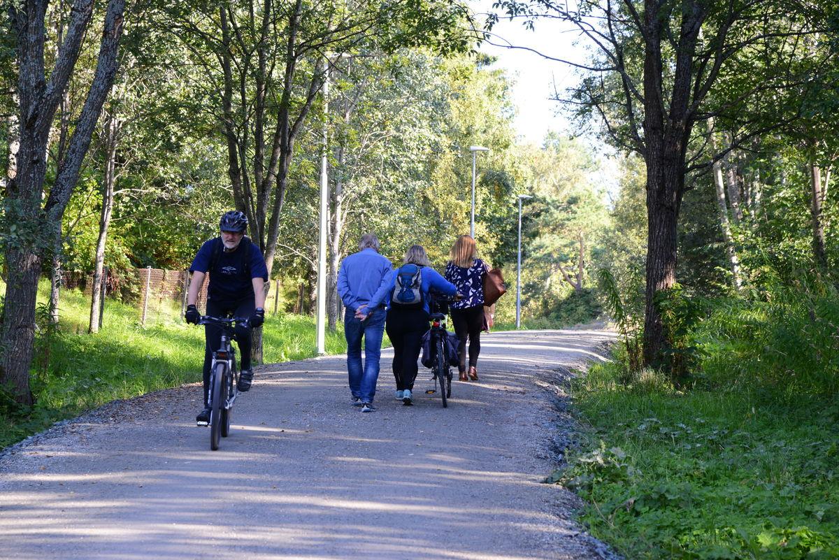 Turveien fra Berg er populær, både blant gående og syklende