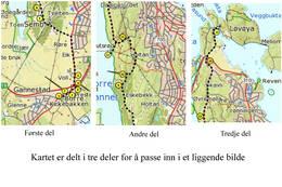 Kart med referanse til nummerene i teksten - Foto: Ukjent