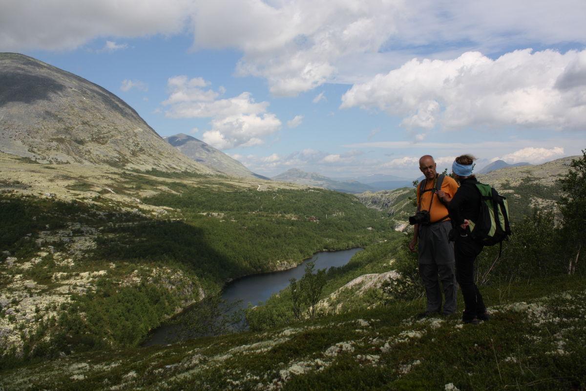 Flott utsikt mot Bjørnhollia