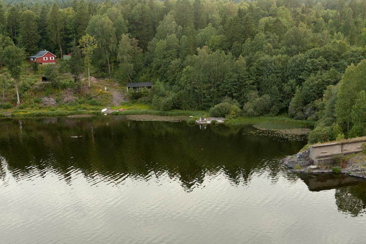 Utsikt mot Skytterhuset ved nordenden av Borrevannet. Fra pkt 5.