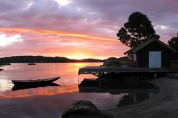 Kveldstemning i Sildevika -  Foto: Kjell Ivar Brynsrud