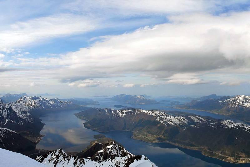 Utsikt fra Helgelandsbukken
