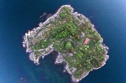 Øya sett ovenfra  - Foto: Per Thomas Skaanes