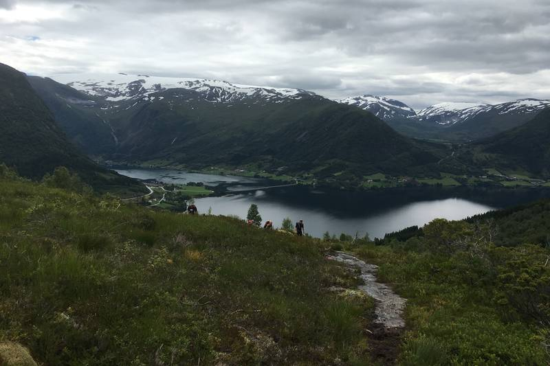 Utsikt mot Kjøesnes frå stien