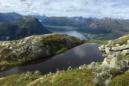Ved hytta på Kleivafjellet - Foto: Anne Cecilie Kapstad