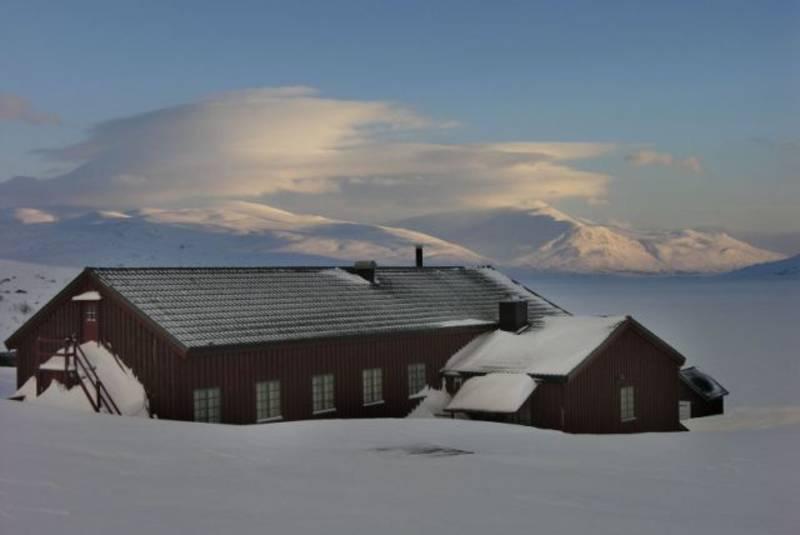Vinter på Aursjøhytta