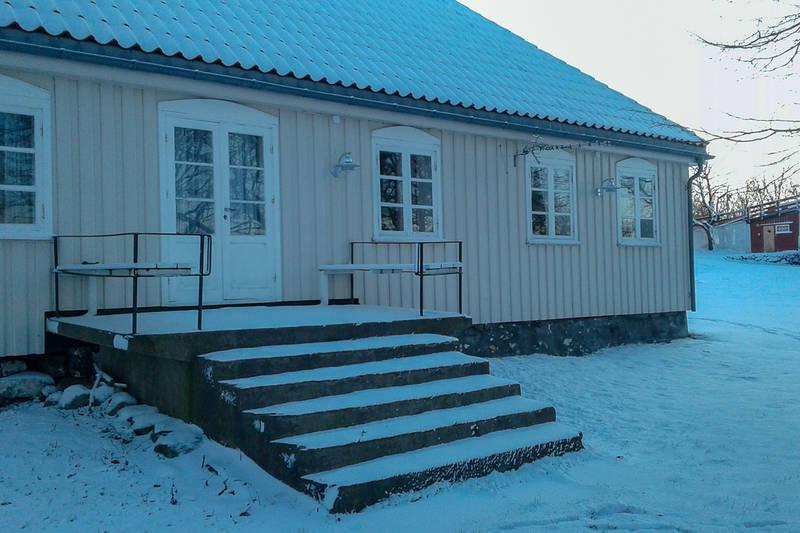Vinter hovedhuset.