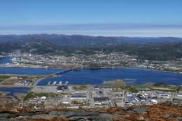 Utsikt over Namsos - Foto: Andreas Brattgjerd