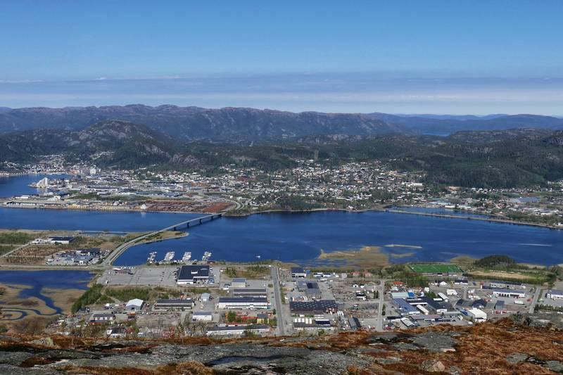 Utsikt over Namsos