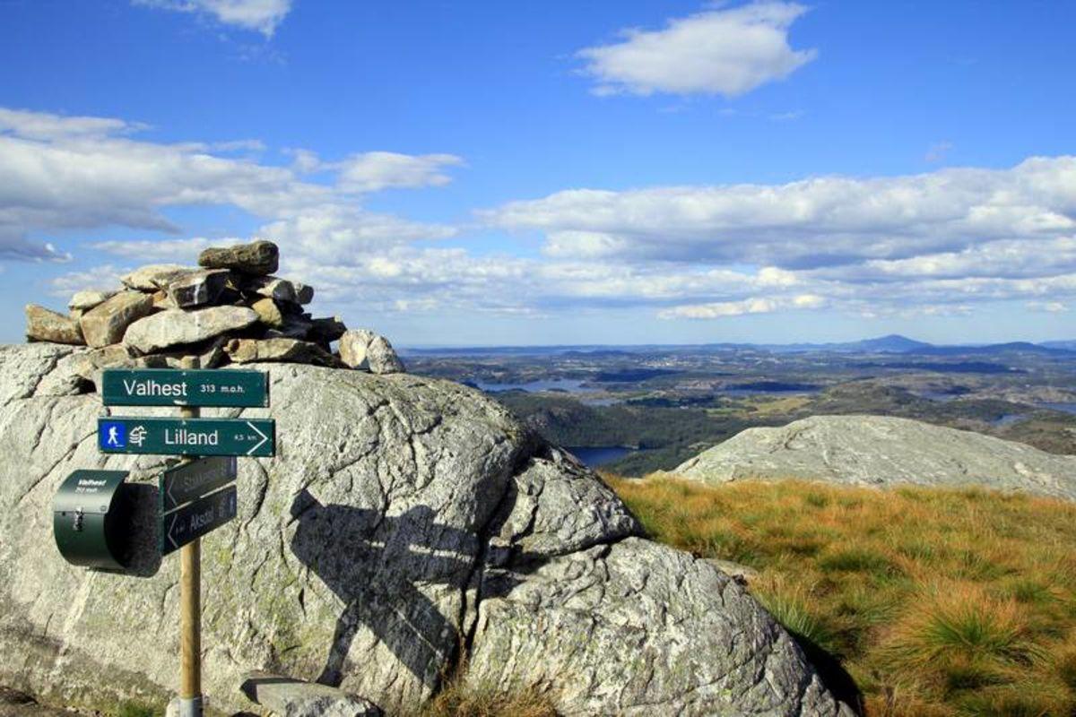 Utsikt fra toppen av Valhest