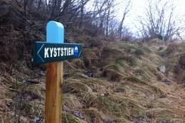 Stien er merka og skilta - Foto: Lister Friluftsråd
