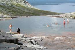 Badekulpene ved Nedalshytta -  Foto: Jonny Remmereit