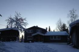 Nydalshytta en kald, deilig januarkveld - Foto: Janet Bydal