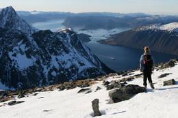 Utsikten mot vest og Eiksund. Forøvrig en fantastisk padletur ut til Runde.. -  Foto: Arild Eidset