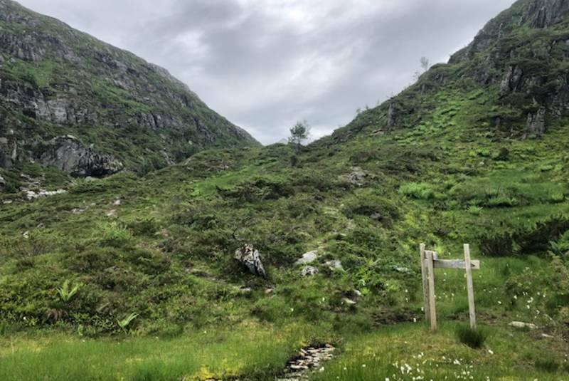 Stidele for Håsteinen og Fagernipa før Standalsstølen