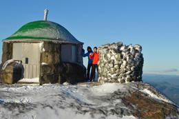 Styggemannshytta på toppen av Styggemann 872 moh. . -  Foto: Hallgrim Rogn
