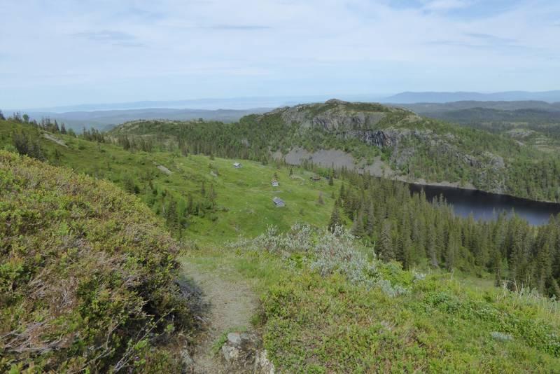 Utsikt ned til Engvoll'n
