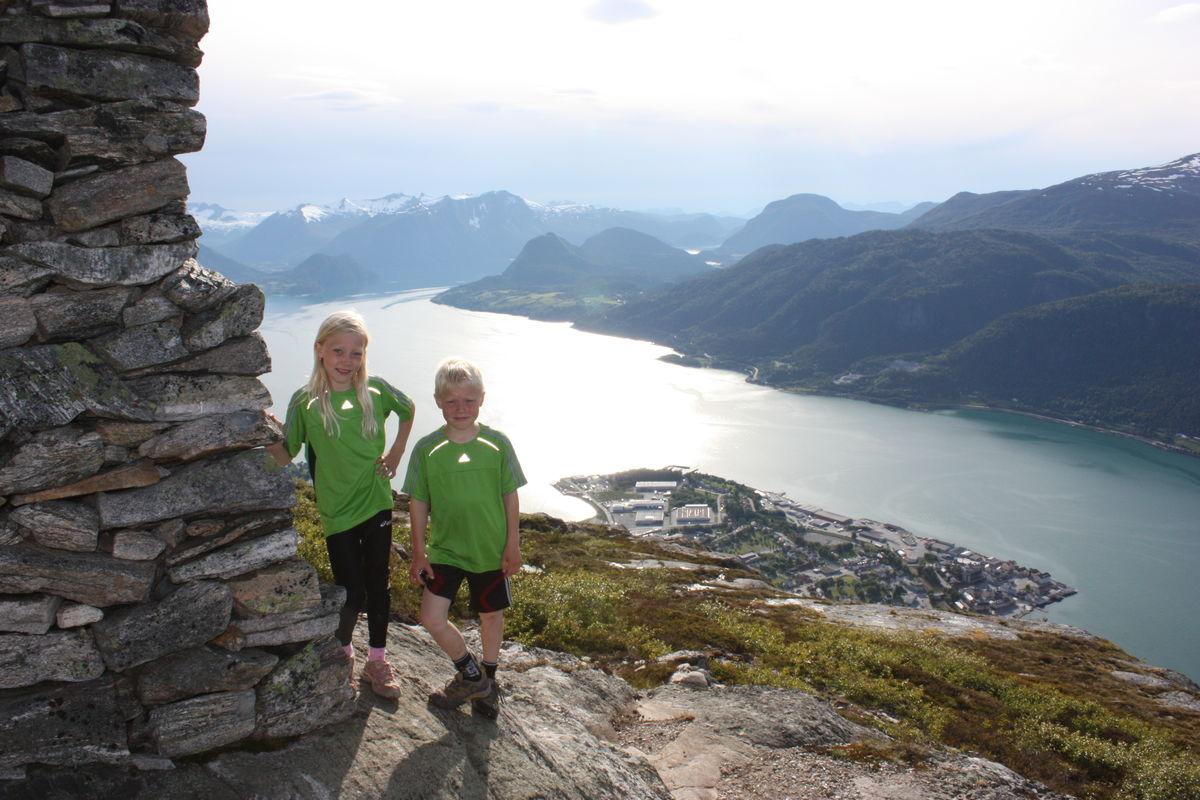 Utsikt over Åndalsnes fra Nesaksla