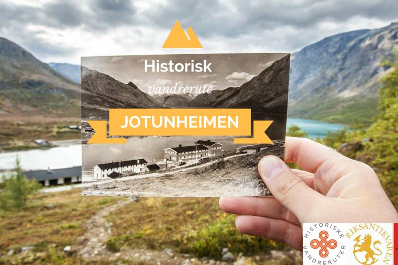 HISTORISK GRUNN: Vandreruta gjennom Jotunheimen er også en vandring gjennom nyere norsk fjellhistorie.