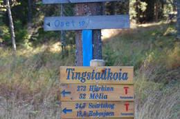 Skilting med avstander på Rondanestien - Foto: Margrete Ruud Skjeseth