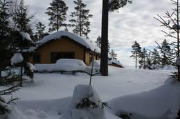 Vinterdag ved Bergersætra. (Sett fra vest) - Foto: ukjent