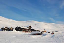 Haukeliseter fjellstue i vinterdrakt -  Foto: Haukeliseter fjellstue
