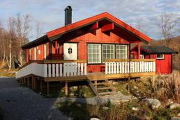 Den splitter nye hytta, tilrettelagt for funksjonshemmede.  - Foto: Robert Bjugn