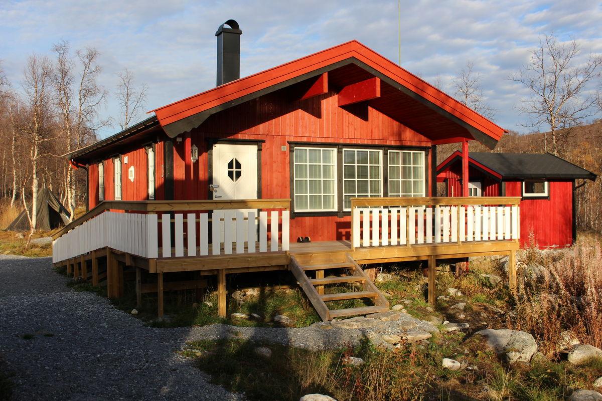 Den splitter nye hytta, tilrettelagt for funksjonshemmede.