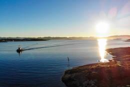 Stille vintermorgen på Roaldsøy.  -  Foto: John Petter Nordbø
