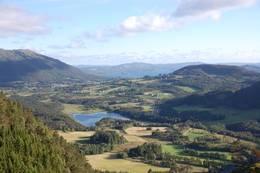 Utsikt sørover mot Vasslivatnet og Vikebygd  - Foto: Roald Årvik