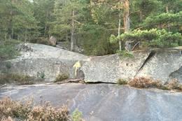 Følg den gule pila. - Foto: Einar Vestnes