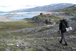 På veg ned mot Lomihytta  -  Foto: Kari Aanonsen