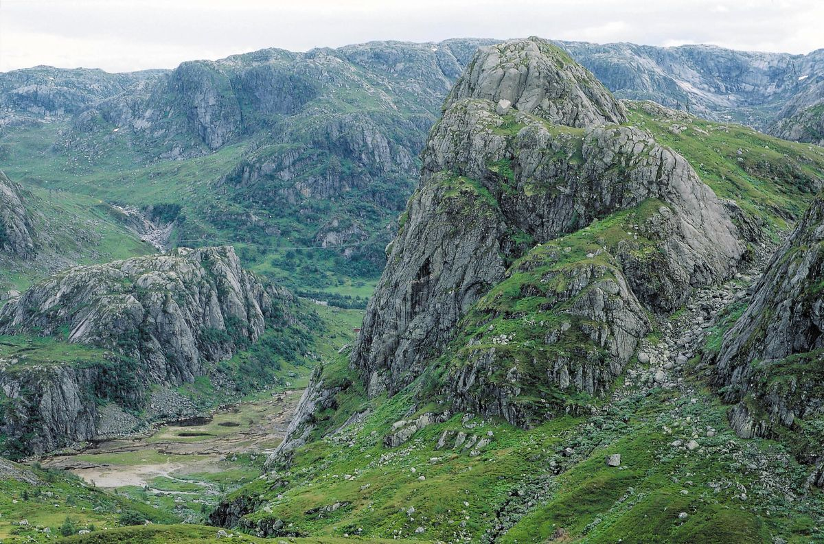 Hytta i Grasdalen ligger skillet mellom flere dalfører