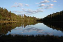 Langtjernet nedenfor Bergersætra - Foto: Knut Lysell