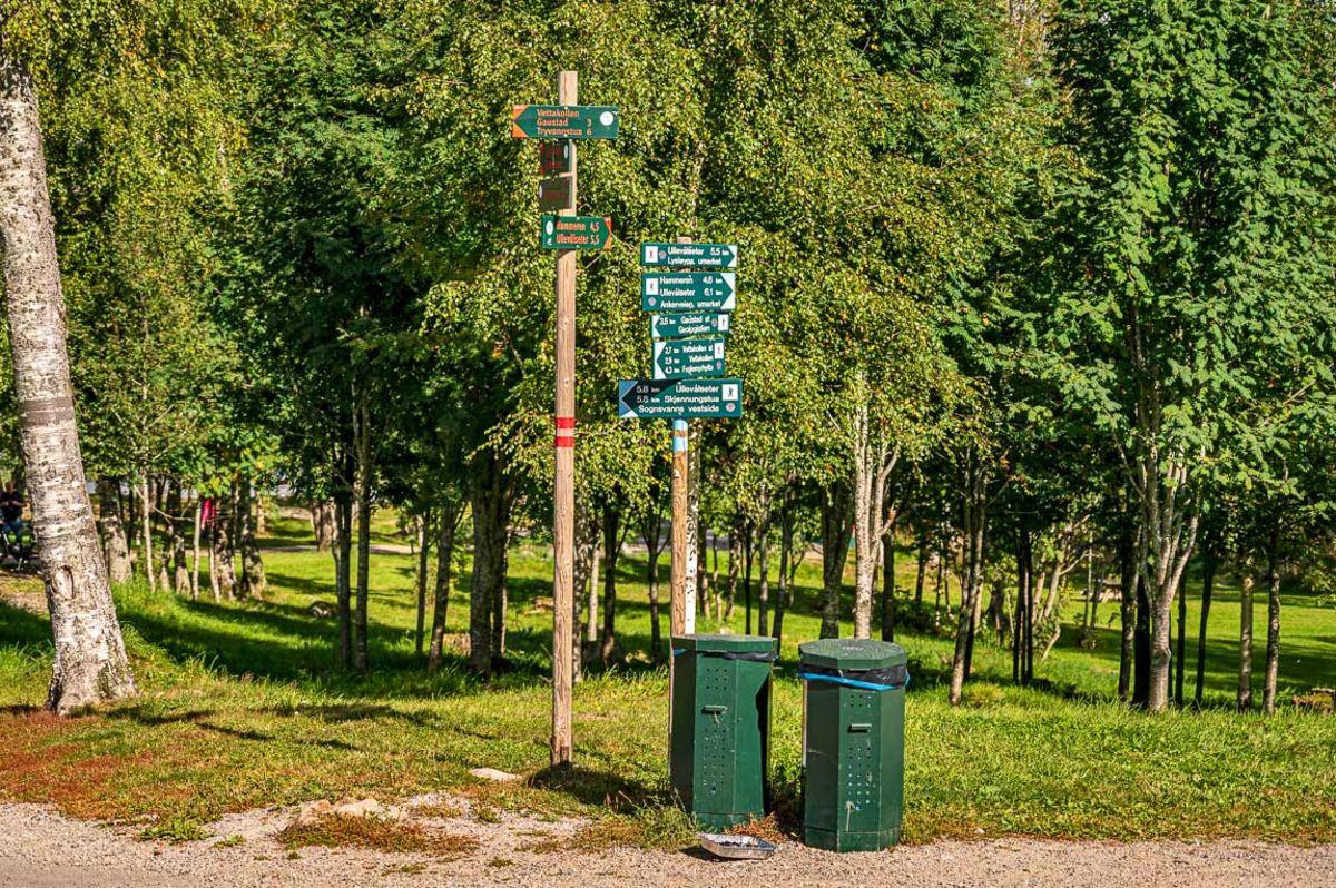 Skogsturen begynner ved Sognsvann