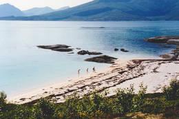 Silsanden ligger der som et prima turmål. -  Foto: Bente Melby Ness