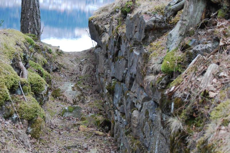 Ruin av en av veggen i Mjøskastellet