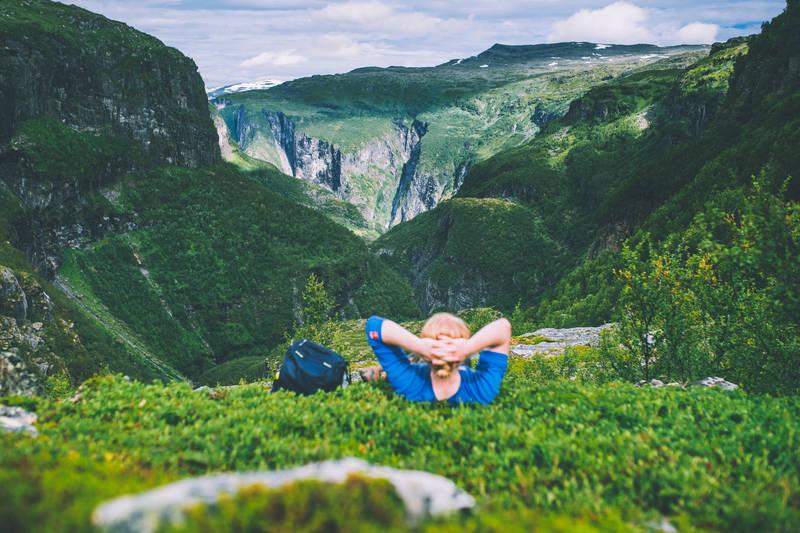 Frodig i Aurlandsdalen sommerstid.