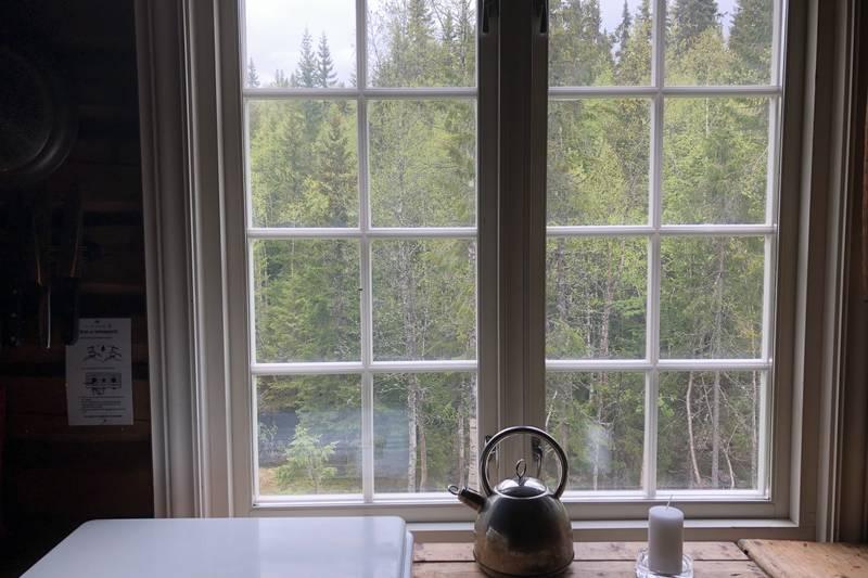 Nydelig utsikt fra kjøkkenvinduer