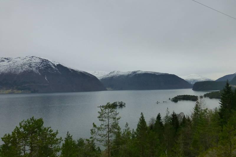 Utsikt over Hornindalsvatnet