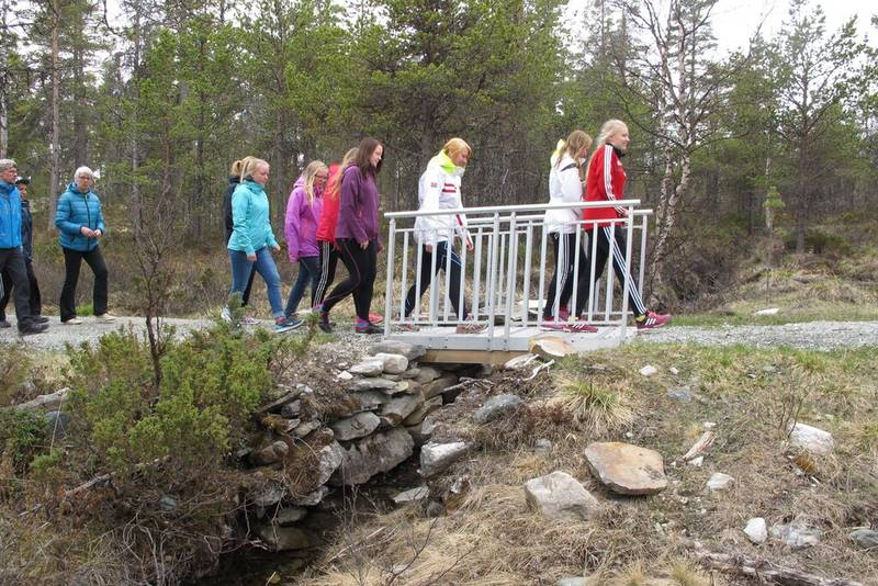 En av to broer som ble bygd av prosjektet.