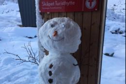 Snømann på Skåpet - Foto: Ann Kristin Kro