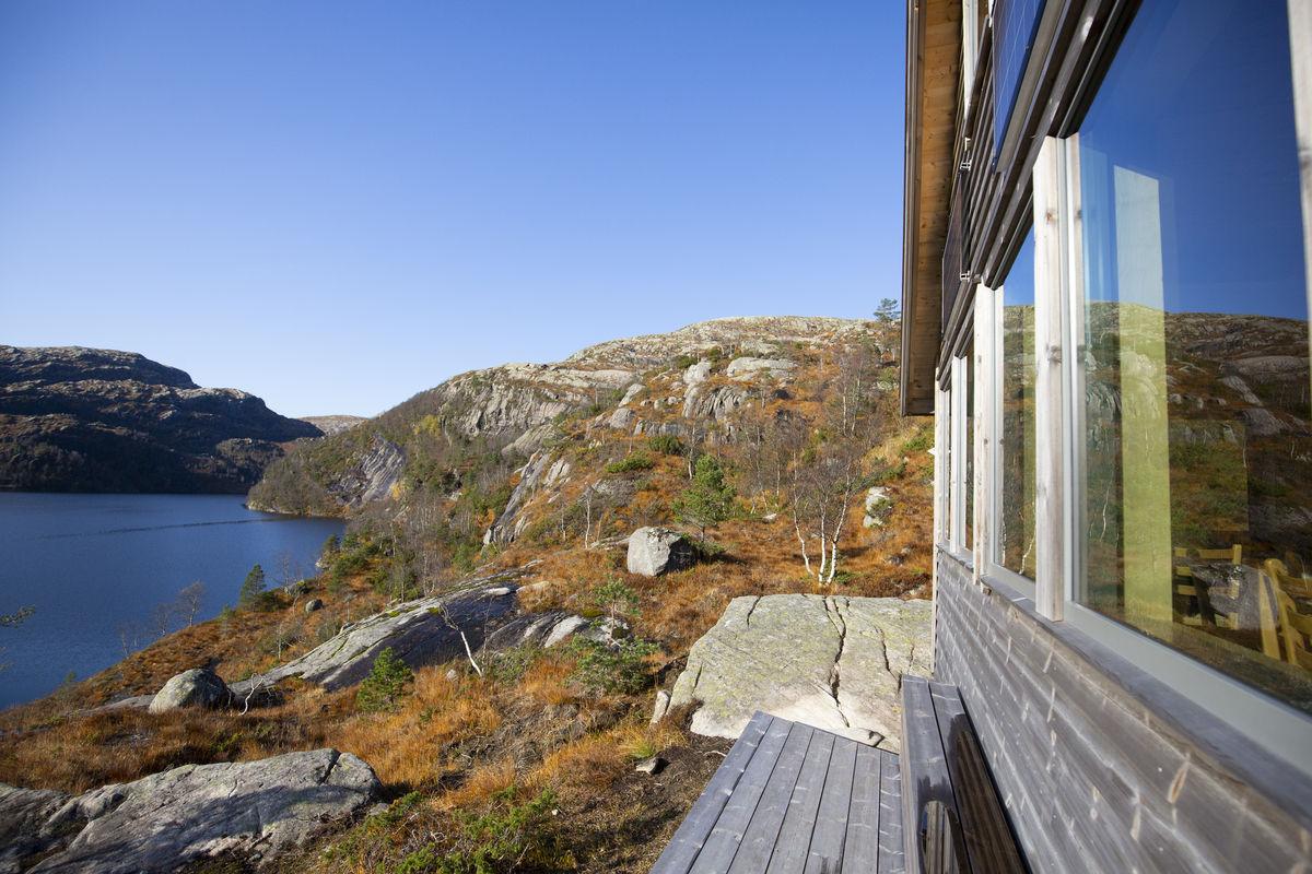Utsikt fra Kalvedalshytta