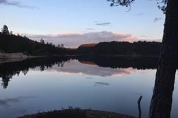 Kveldsstemning sørover fra Kolholmen - Foto: Sebastian Bø