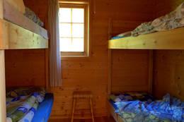 Soverom på Skjækerdalshytta - Foto: NTT