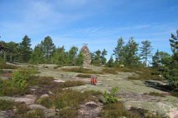 På vei over Storsteinsfjell -  Foto: Kjell Buene