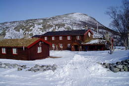 Bjørnhollia ved påsketider  - Foto: DNT Oslo og Omegn