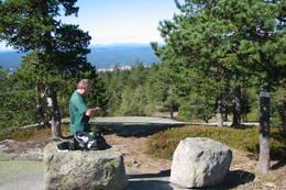 Magne på toppen på Sirikjerke. -  Foto: Anne Gallefos Wollertsen