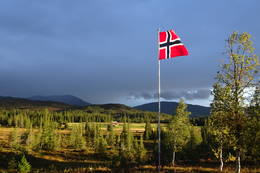 Utsikten fra Schulzhytta - Foto: Mari Nygård