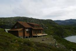 Den nye Sandvasshytta, Etnefjella 2010  - Foto: Eivind Krakk